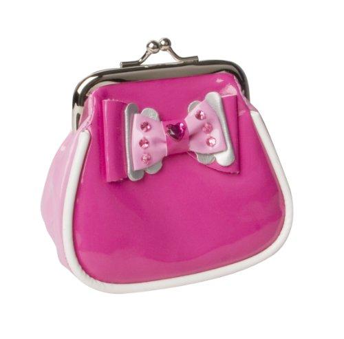 Pink Poppy - Portamonete a clip con fiocco