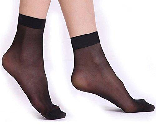 Oyfel. 10 Paar Socken mit Komfortrand, hautfarben, transparente Sohle, seidig und rutschfest, Baumwolle, Strumpfhose, High Heels, mit verstärkter Spitze