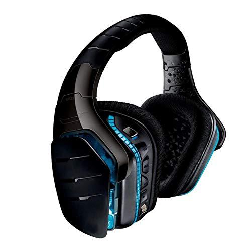 YYZLG G933s Casque de jeu sans fil stéréo 7.1 avec suppression du bruit, casque doux et bandeau réglable