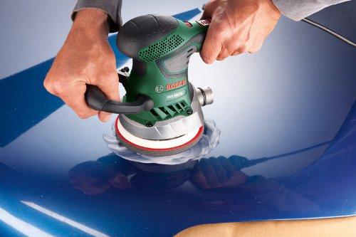 Ponceuse excentrique filaire Bosch - PEX 400 AE (350W, livrée avec coffret de rangement, 1 paper assistant, 1 papier abrasif G 80)