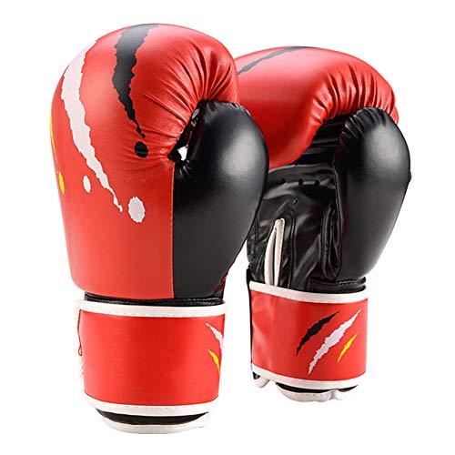 LEDDP Guantes Kick Boxing Boxeo Guantes Guantes Boxeo Hombre Guantes De Boxeo Venum ProteccióN De PuñO Guantes De Entrenamiento para Adultos Red,Child