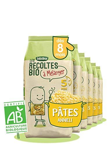 Blédina - Les récoltes bio à mélanger - Les Pâtes Perles Bio pour bébé - Pack de 6 x 290g - dès 6 mois