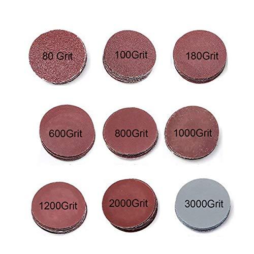 GOODCHANCEUK, 3-Zoll-(7,5cm)-Schleifscheiben-Papier, Klettband-Schwingschleifer-Ballen, Körnung: P80, P100, P180, P600, P800, P1000, P1200, P2000, P3000.