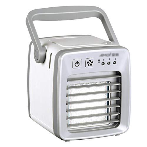 ALYR Mini Personal Condizionatori, Portatile Mini USB Condizionatore Ventilatore Multiuso Raffreddatore d'Aria Refrigeration/Umidificatore/Purificatore d'Aria per la tavola Home Office,White