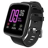 YAMAY Smartwatch Wasserdicht IP68 Smart Watch Uhr mit Pulsmesser Fitness Tracker Sport Uhr Fitness Uhr mit Schrittzähler,Schlaf-Monitor,Stoppuhr,Call SMS Benachrichtigung Push für Android und iOS