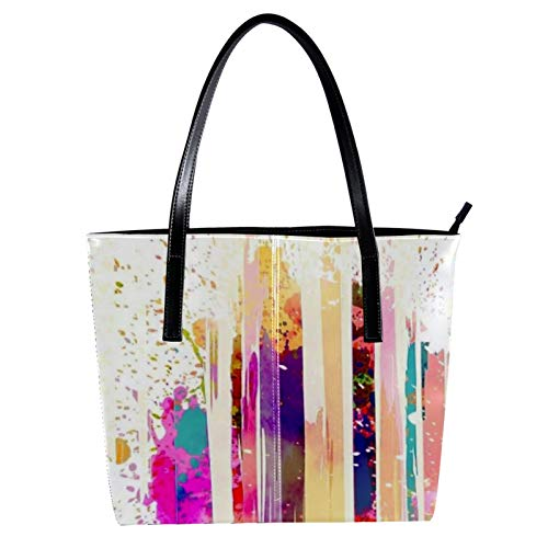 Neon Lamp Post Women's Handbags, soft leather handle bag Handle Satchel Bag for Work Travel Large Messenger Bag