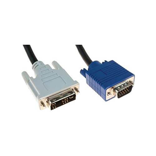 N.C.. Cble Adaptador DVI-A MLE VGA DB-15MLE HD15M 150cm Negro Pantalla cordón
