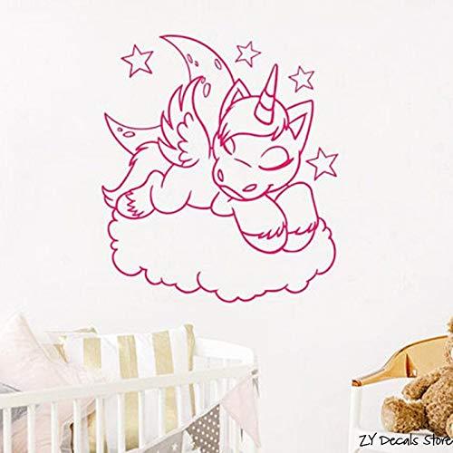 Tianpengyuanshuai nieuwe paard muurtattoos versieren vinyl muursticker voor slaapkamer kinderen meisjes verjaardag