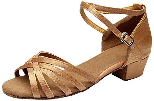 Vesi - Zapatos de Baile Latín de Tacón para Niña Albaricoque 36 EU