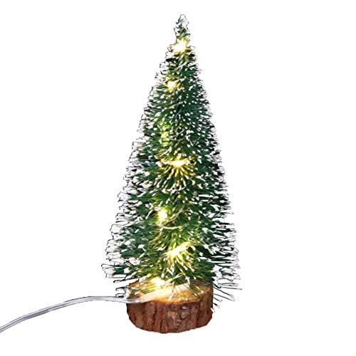 ghhshjhlk Mini Albero di Natale con Lampada Luminosa Perfetto per La Tua Casa O Ufficio Colore Caldo 15 Centimetri