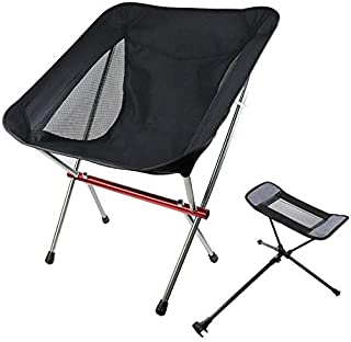 Outdoor Beach Chair Aluminum Alloy Ultra Light Camping Barbecue Fishing Portable Folding Back Chair High Quality (Color : ...