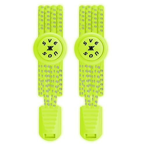 svexxson Elastische Schnürsenkel – Hochwertige Schnürsenkel mit rostfreiem Schnellverschluss - Reflektierende und umweltfreundliche Gummi Schnürsenkel