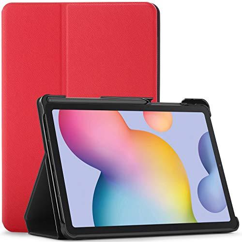 FC Cover per Samsung Galaxy Tab S6 Lite - Galaxy Tab S6 Lite 10.4 Custodia con S Pen Supporto - Rosso - Sottile, Smart Auto Svegliati Sonno, Samsung Galaxy Tab S6 Lite 10.4 pollici Cover, Custodia