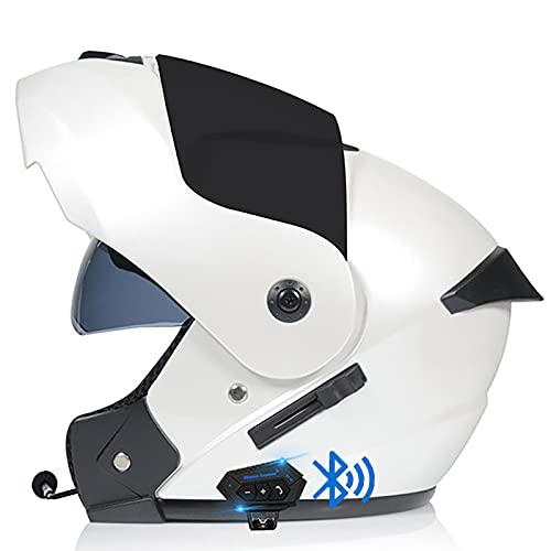Casco Moto Modular Bluetooth Integrado Casco De Moto Abatible,ECE para Moto Patinete...