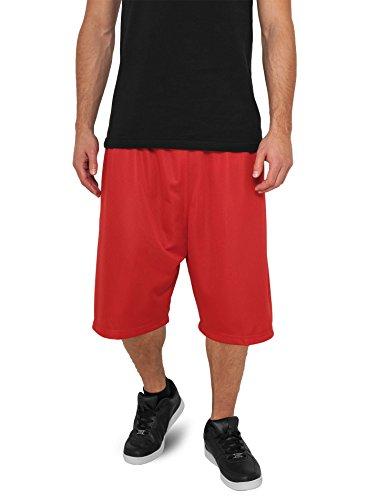 Urban Classics TB046 Herren Sport Shorts Bball Mesh Shorts rot (Red) Large