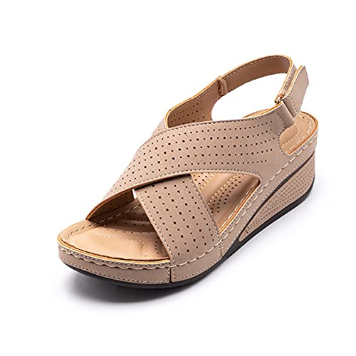 Women Sandals New Summer Shoes, Woman Ladies Sewing Hollow Out Wedges Female...
