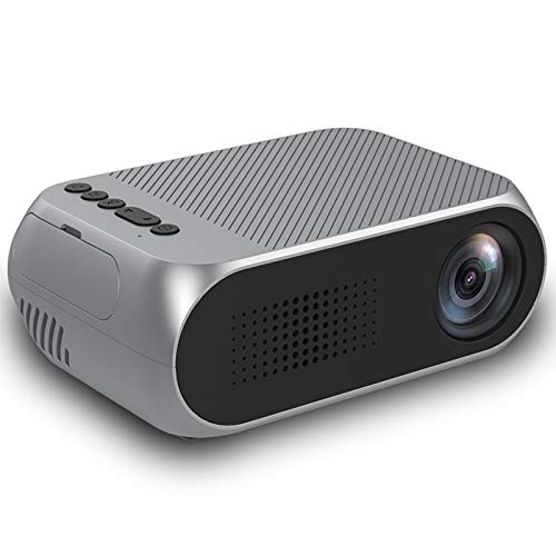 Projector, Home Theater, Mini Projector with Synchronize Smartphone Screen, 1080P HD Portable Projector with 600 Lux And 60' Display,Silver