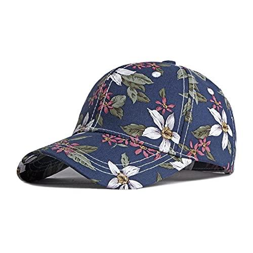 Gorra de Flores Florales con Personalidad de Estilo étnico para Mujer, protección Solar Retro, Salida, Lengua de Pato, Sombrero para el Sol-2