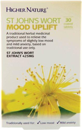 Higher Nature St John's Wort Mood Uplift - 30 Coated Tablets