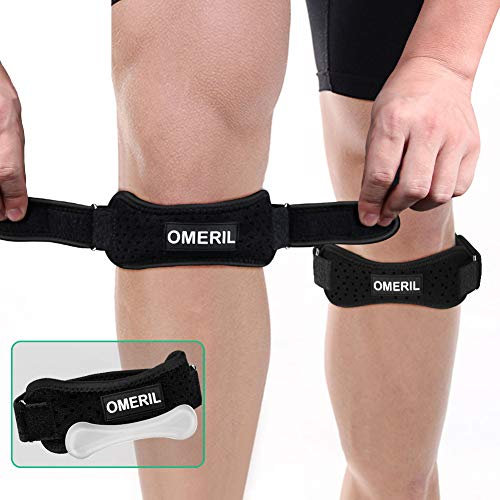 OMERIL 2 Pack Knee Brace, Knee Strap Brace with Silicone Insert, Pain Relief Patella Stabilizer...
