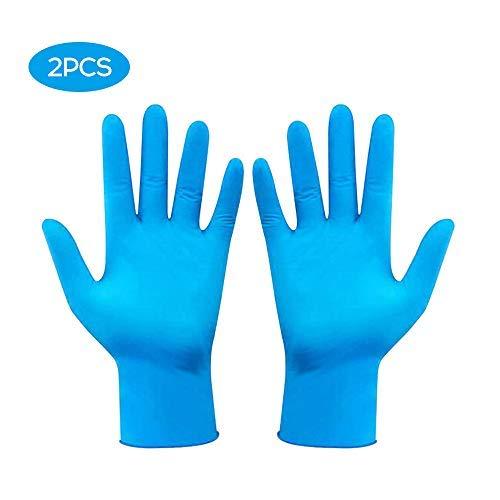 Festnight nitrilhandschoenen, 100 stuks, draagbaar, gezonde keuken, wegwerp- nitrilhandschoenen, gebruik een waterdichte, antislip, slijtvaste blauwe handschoen