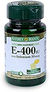 Nature's Bounty Vitamin E-400 IU W/Selenium, 50 mcg