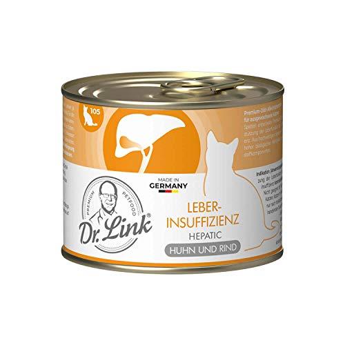 Dr. Link® Spezial-DIÄT 6x200g Leberinsuffizienz | Hepatic Huhn und Rind | Nassfutter für Katzen