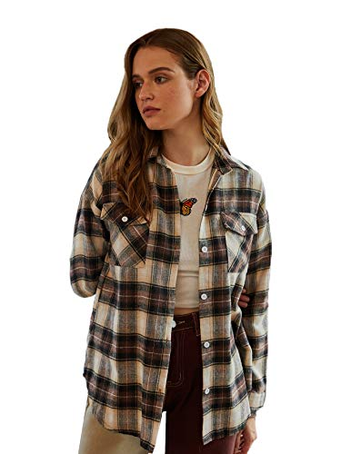 Womens Long Sleeve Button Down Collar Shirts