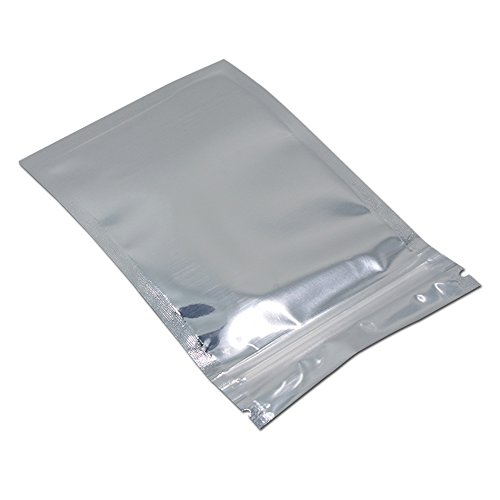 Front Clear Aluminum Foil Mylar Reclosable Ziplock Bag Flat Visual Plastic Food Storage Bag Heat Sealable Smell Leak Proof Packaging (100, 9x16cm (3.5x6.3 inch))