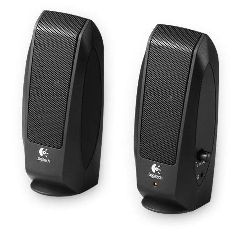 Logitech® Speakers S120 - Black - Analog - PLUGC