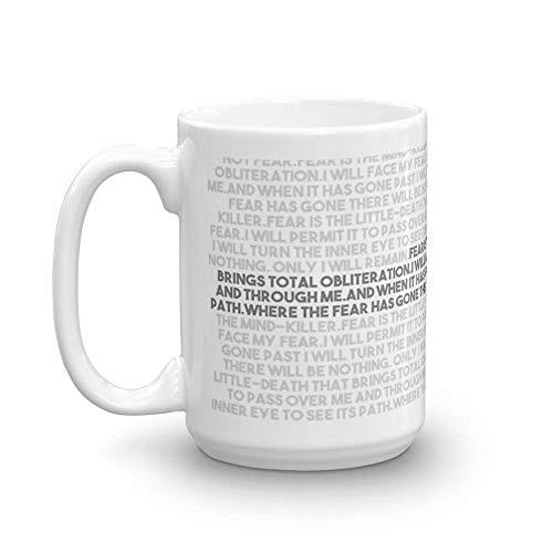 Letanía contra el miedo Tazas de 11 oz son el regalo perfecto para todos Taza de cerámica fina de 11 oz con esmalte impecable