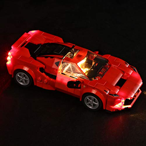 Seasy Juego de luces LED para coche de carreras Lego Speed Champions Ferrari F8 Tributo, juego de iluminación LED compatible con Lego 76895 (sin set Lego)