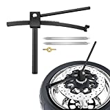 Vogvigo 20mm Axle Shaft Motorcycle Truck Tire Changing Tools,Easy to Use Tire Mounting Tool for Motorcycle and Dirt Bike Enduro and Motocross,with 2 Steel Wrenches and a Valve core