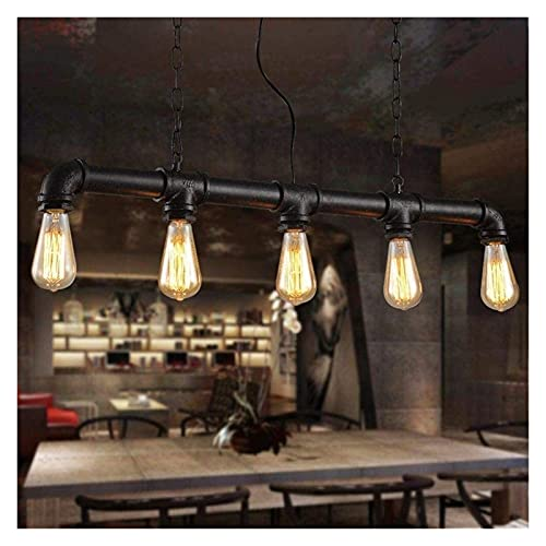 Lampadario Moderno Lámpara de Agua Steampunk Retro Restaurante Bar Óxido Rojo Decoración del Hogar Lámpara Industrial Loft