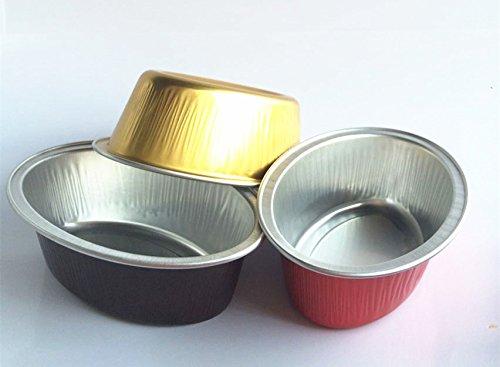 "KEISEN Ovalada 4"" 85ml 3oz 24 / PK Mini Vajilla de Aluminio Tazas para la Magdalena del Hornear Mollete Utilidad Ramekin Copa"