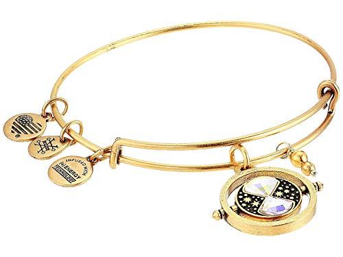 Alex and Ani Harry Potter Time Turner Bangle Bracelet Shiny Gold One Size