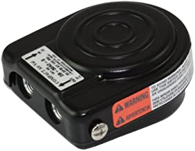 Linemaster 3B-30A2-S Compact Airval Foot Switch, 3-Way Pneumatic, Single Pedal, Momentary, Single Stage, No Guard, Black
