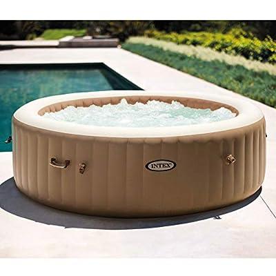 Intex 28427E 85in PureSpa Inflatable Spa, Tan, 85in / 6-Person