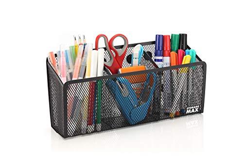 StorageMax - Portalápices magnético y organizador, imanes extra fuertes, cesta de almacenamiento ideal para taquilla, frigorífico y...
