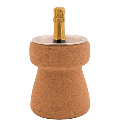Biosughero - Secchiello portabottiglia in Sughero, Forma Tappo Champagne
