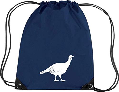Camiseta stown Premium gymsac Animales Perdiz, pollo, azul marino