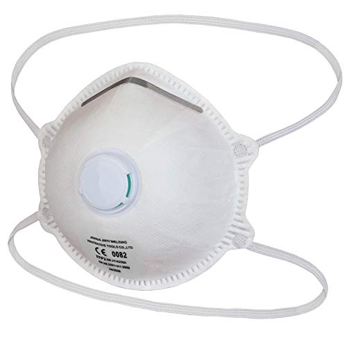 ALPIDEX 10 X FFP2 Maske mit Ventil verstellbarer Nasenclip Atemschutzmaske FFP 2 Mund- und Nasenschutz effektive Filterleistung 94%