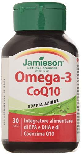 Biovita 50552 Jamieson Omega 3 Coq10 Integratore Alimentare, 30 Perle