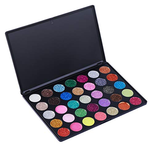 Frcolor 35 couleurs fard à paupières palette ombre à paupières imperméables pour maquillage quotidien ou de fête