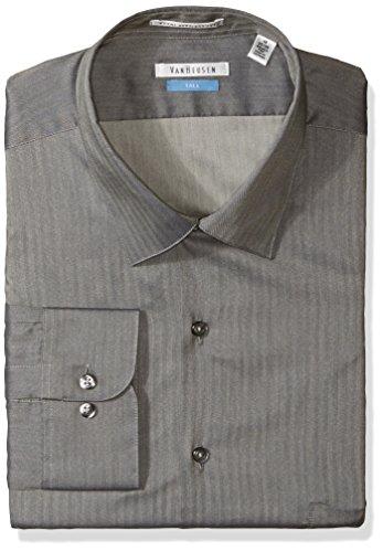 Van Heusen Men's TALL FIT Dress Shirts Herringbone Solid (Big and Tall)