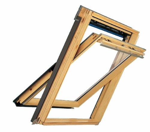 Velux Dachfenster GGL Schwingfenster 55x98cm CK04 3060 5-Star Kiefer Natur mit Eindeckrahmen für Bieber EDB