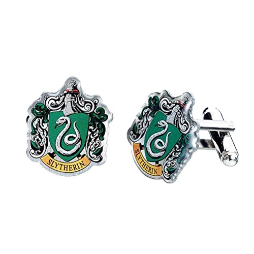 Harry Potter Slytherin Wappen Silber vergoldete Manschettenknöpfe