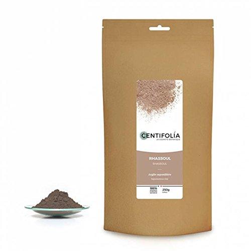 CENTIFOLIA - Argile de Rhassoul - Pure - Nettoie et purifie - Peau et cheveux - Reminéralisante - Anti-âge - Stimule le renouvellement de la peau - Combat les rides - Naturel - 250 gr
