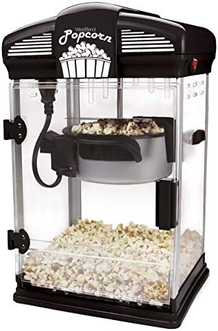 West Bend 82515B Theater Style Hot Popcorn Popper Machine with Nonstick Kettle Includes Measuring product image