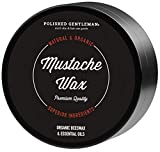 Mustache Styling Beard Beeswax Product - Leave In Conditioner With Beard Oil Shea Butter Coconut Oil Tea Tree Oil - Shaping and Styling Balm - All Natural Ingredients - 2oz - Made in USA